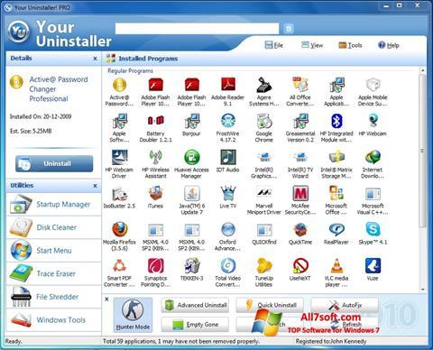 Skärmdump Your Uninstaller för Windows 7
