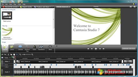 Skärmdump Camtasia Studio för Windows 7