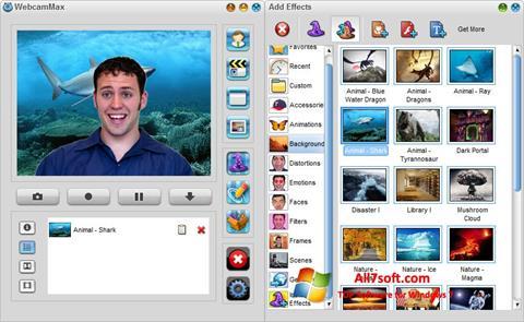 Skärmdump WebcamMax för Windows 7