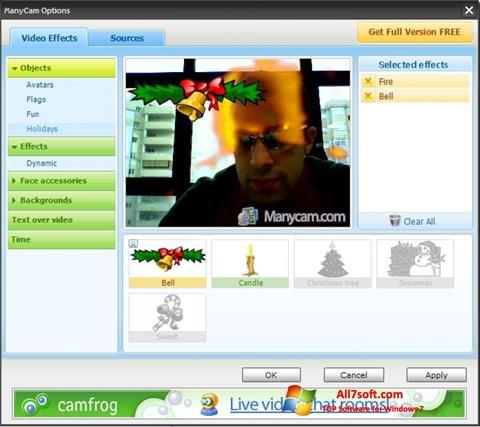 Skärmdump ManyCam för Windows 7