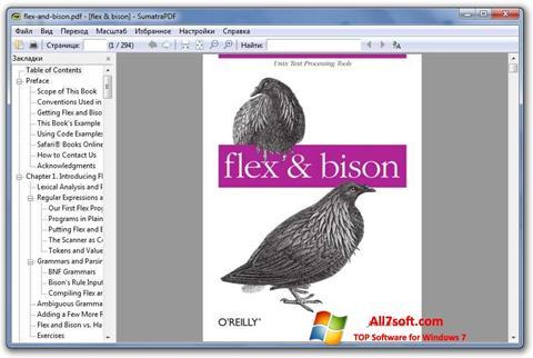 Skärmdump Sumatra PDF för Windows 7