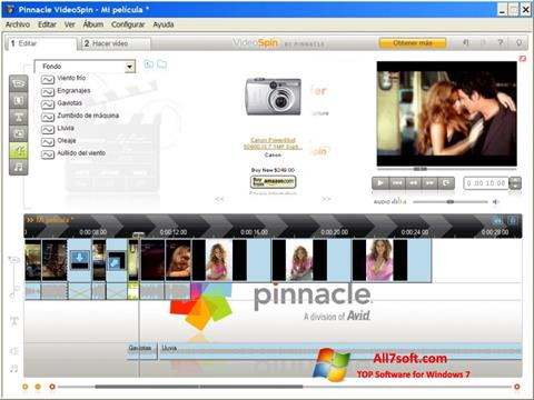 Skärmdump Pinnacle VideoSpin för Windows 7