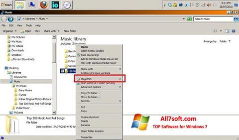 Skärmdump MagicISO för Windows 7