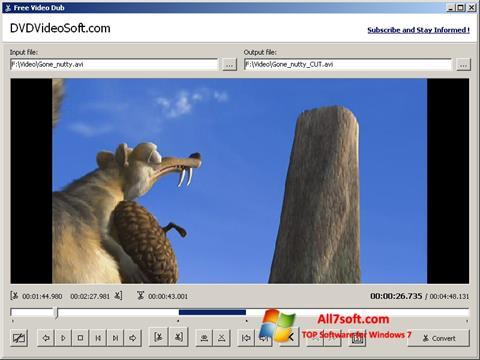 Skärmdump Free Video Dub för Windows 7
