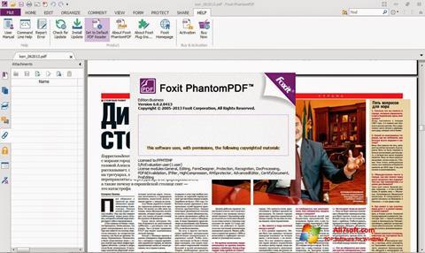 Skärmdump Foxit Phantom för Windows 7