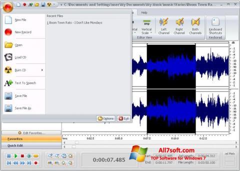 Skärmdump Free Audio Editor för Windows 7
