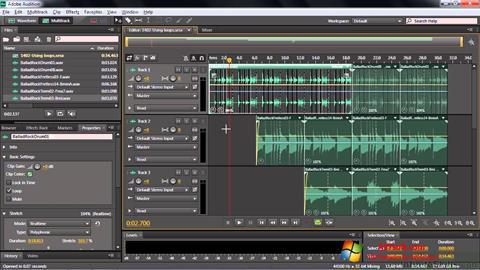 Skärmdump Adobe Audition CC för Windows 7