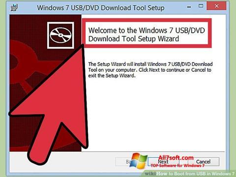 Skärmdump Windows 7 USB DVD Download Tool för Windows 7