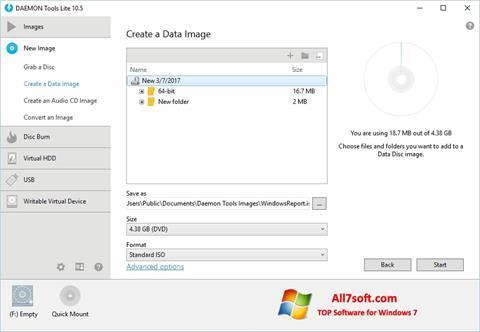 Skärmdump DAEMON Tools Lite för Windows 7