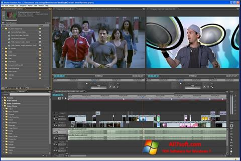 Skärmdump Adobe Premiere Pro för Windows 7