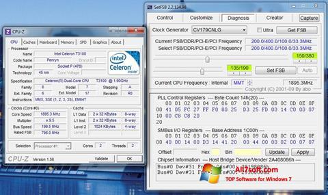 Skärmdump SetFSB för Windows 7
