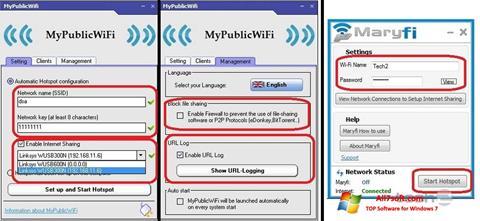 Skärmdump MaryFi för Windows 7