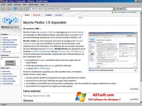 Skärmdump Mozilla Firefox för Windows 7