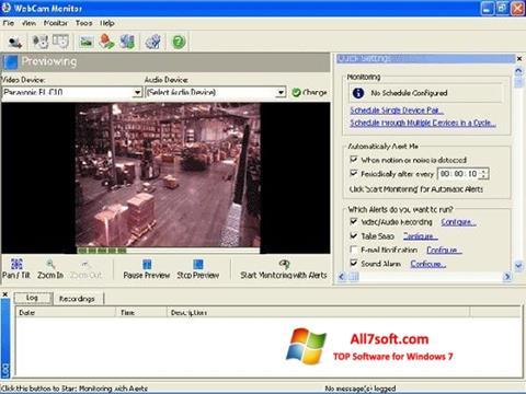 Skärmdump WebCam Monitor för Windows 7