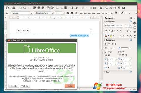 Skärmdump LibreOffice för Windows 7