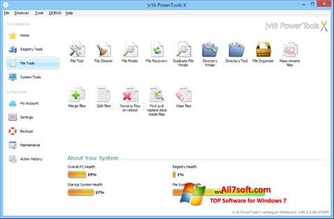 Skärmdump jv16 PowerTools för Windows 7