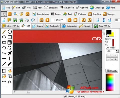 Skärmdump PDF Reader för Windows 7