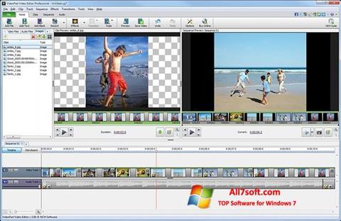 Skärmdump VideoPad Video Editor för Windows 7