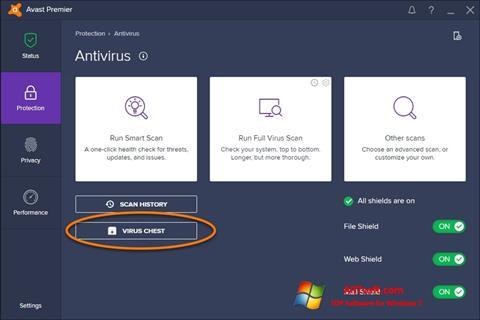 Skärmdump Avast för Windows 7