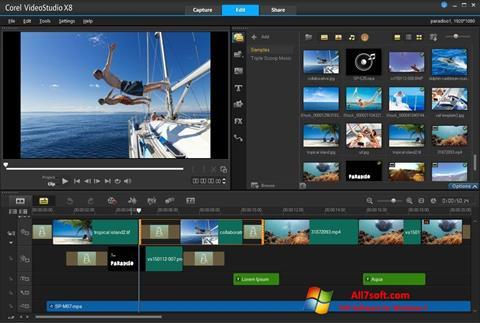 Skärmdump Corel VideoStudio för Windows 7