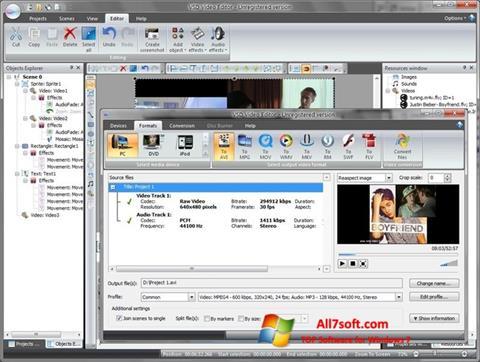Skärmdump Free Video Editor för Windows 7