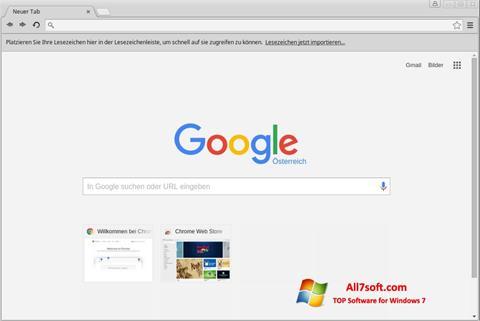Skärmdump Google Chrome för Windows 7