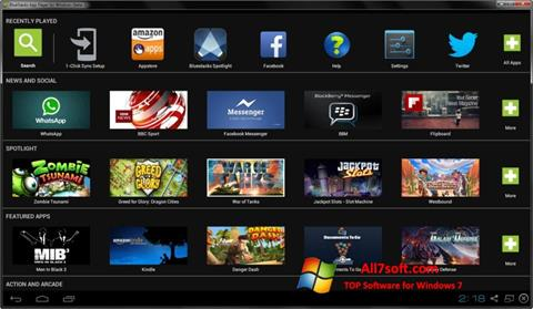 Skärmdump BlueStacks för Windows 7