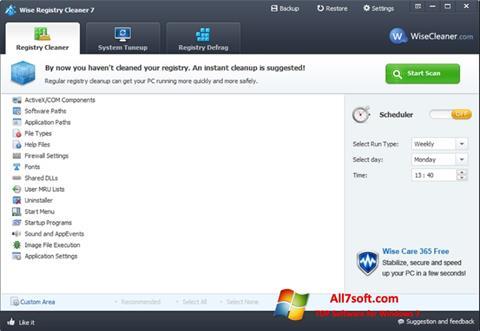 Skärmdump Wise Registry Cleaner för Windows 7