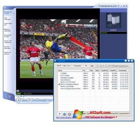 Skärmdump SopCast för Windows 7