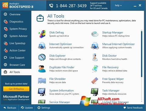 Skärmdump Auslogics BoostSpeed för Windows 7