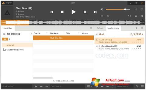 Skärmdump AIMP för Windows 7
