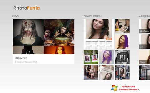 Skärmdump PhotoFunia för Windows 7