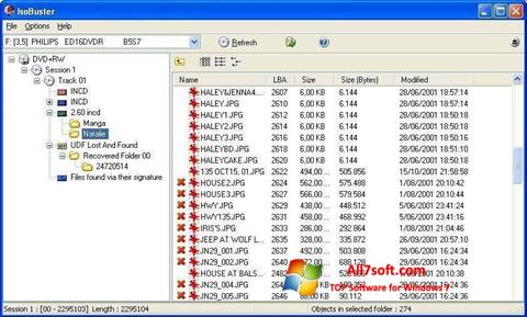 Skärmdump IsoBuster för Windows 7