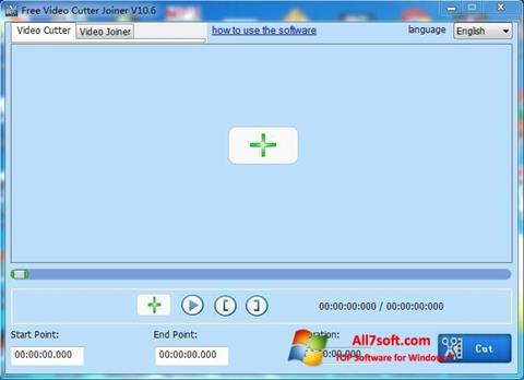 Skärmdump Free Video Cutter för Windows 7