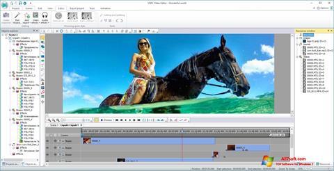 Skärmdump VSDC Free Video Editor för Windows 7